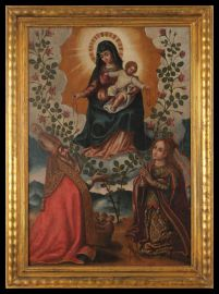 Madonna and Child with St. Nicholas and St.Rose of Lima.