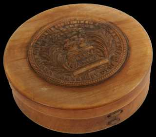 Carved Horn Box